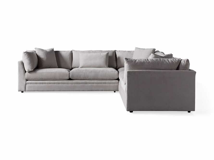 """Pavo Upholstered 132"""" Three Piece Corner Sectional, slide 6 of 6"""
