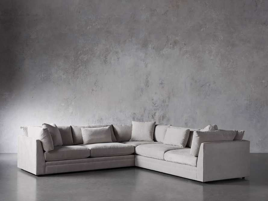 """Pavo Upholstered 132"""" Three Piece Corner Sectional, slide 2 of 6"""