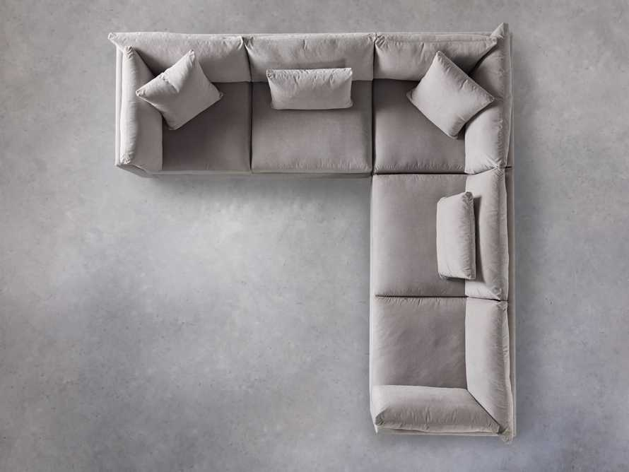 """Pavo Upholstered 132"""" Three Piece Corner Sectional, slide 5 of 6"""