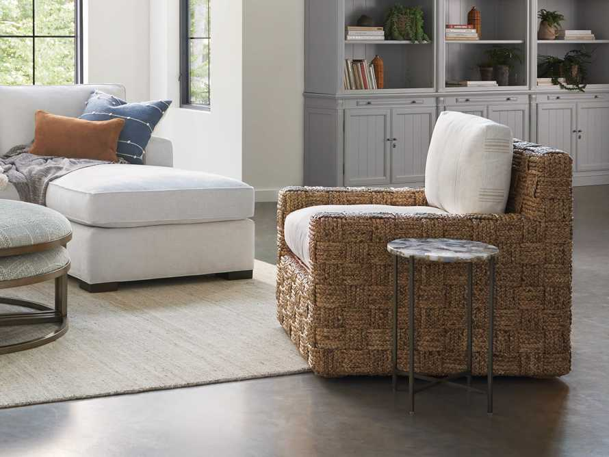 """Riley Upholstered 33"""" Chair in Suntory Sand and Natural, slide 8 of 10"""