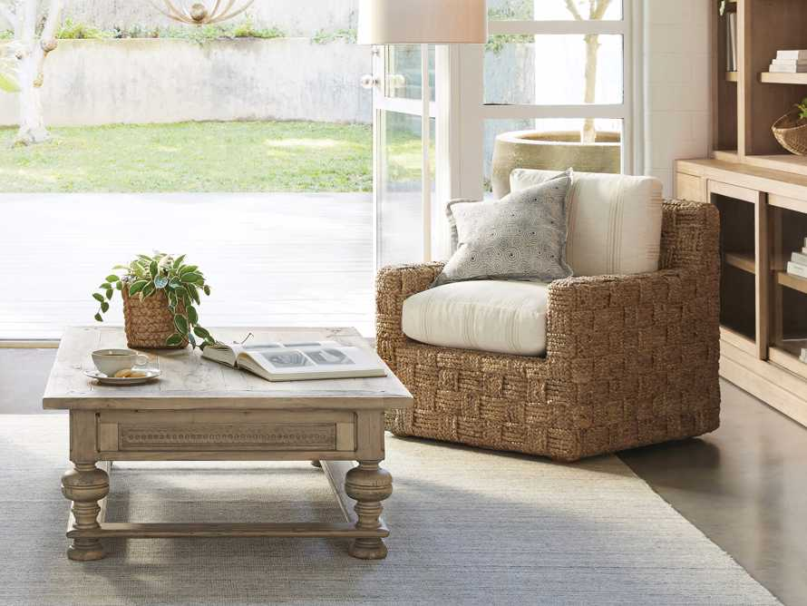 """Riley Upholstered 33"""" Chair in Suntory Sand and Natural, slide 7 of 10"""