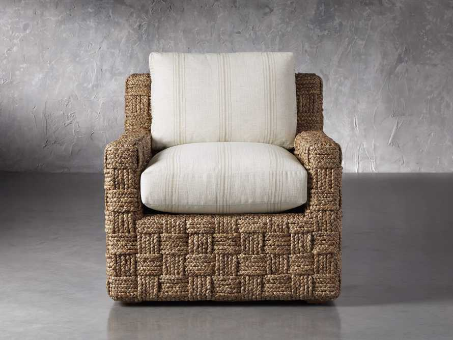 "Riley Upholstered 33"" Chair in Suntory Sand and Natural, slide 1 of 10"