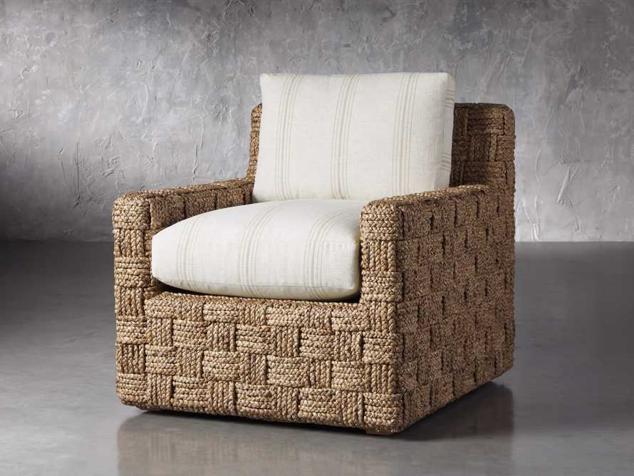 """Riley Upholstered 33"""" Chair in Suntory Sand and Natural, slide 2 of 10"""