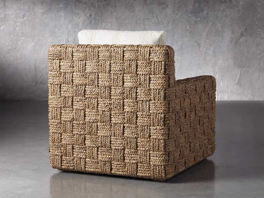 """Riley Upholstered 33"""" Chair in Suntory Sand and Natural, slide 4 of 10"""