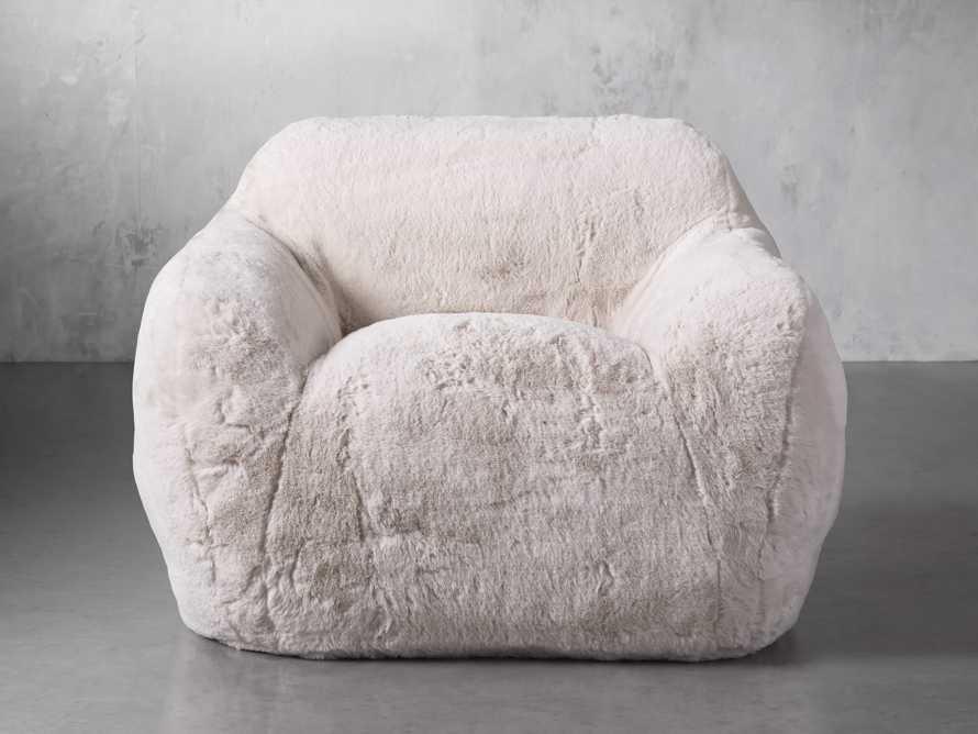 "Snugg Faux Fur 46"" Chair in Big Bear Cream, slide 1 of 8"