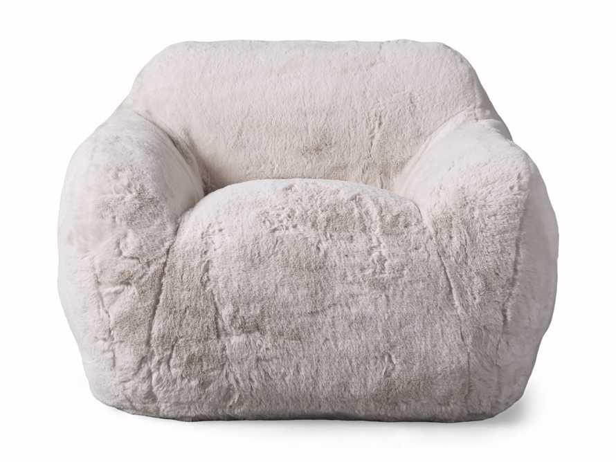"Snugg Faux Fur 46"" Chair in Big Bear Cream, slide 7 of 8"