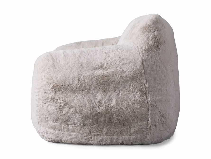 "Snugg Faux Fur 46"" Chair in Big Bear Cream, slide 8 of 8"