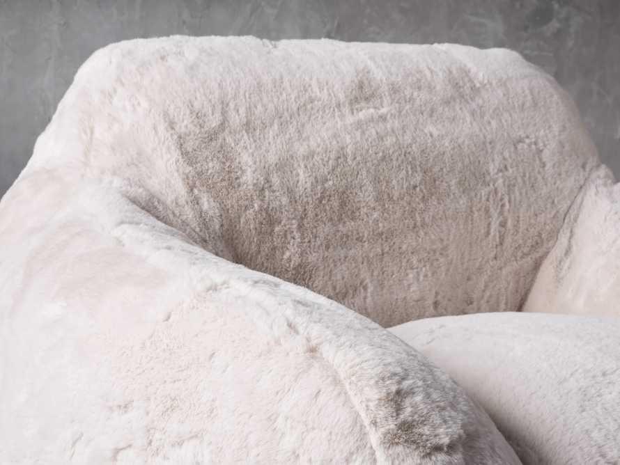 "Snugg Faux Fur 46"" Chair in Big Bear Cream, slide 5 of 8"