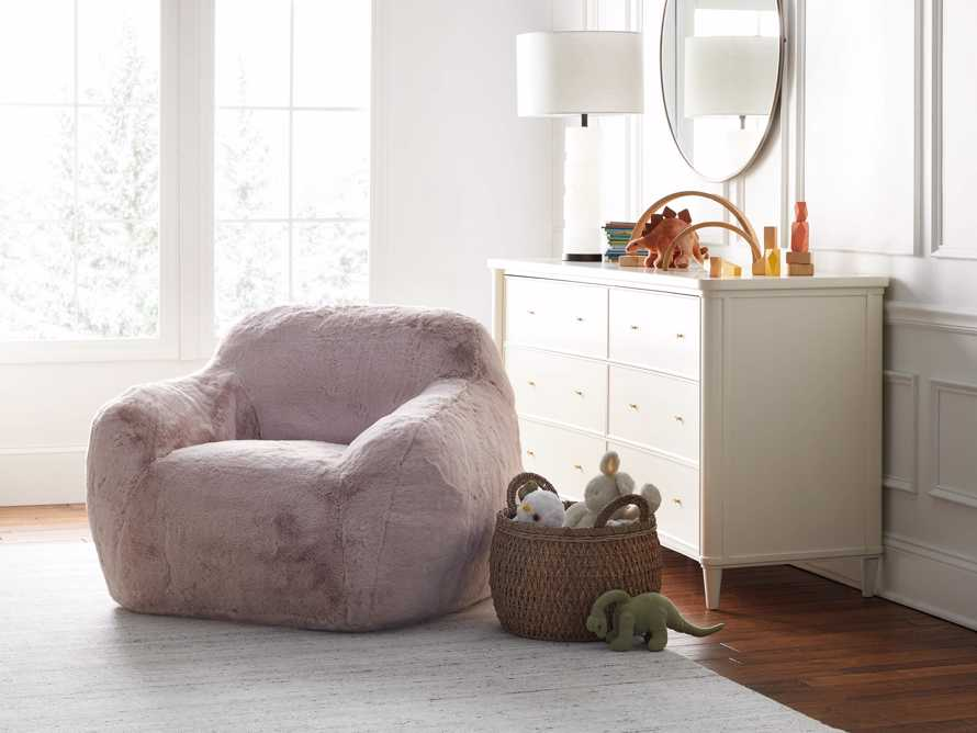 "Snugg Faux Fur 46"" Chair in Big Bear Pink, slide 1 of 10"