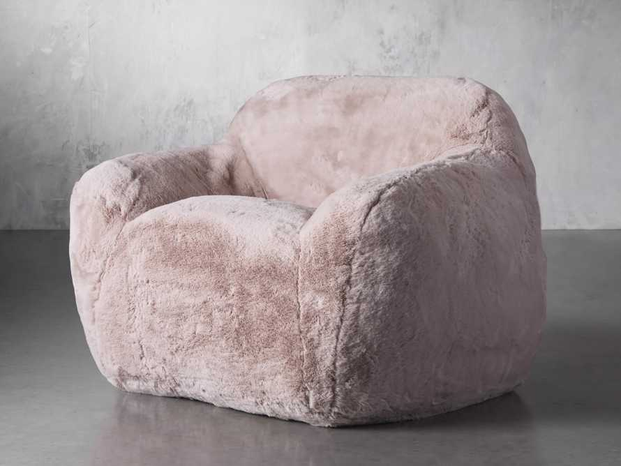 "Snugg Faux Fur 46"" Chair in Big Bear Pink, slide 3 of 10"