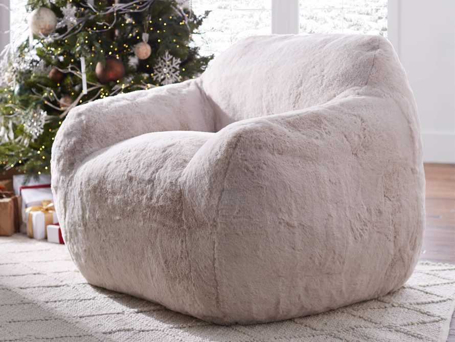 "Snugg Faux Fur 46"" Chair in Big Bear Pink, slide 8 of 10"