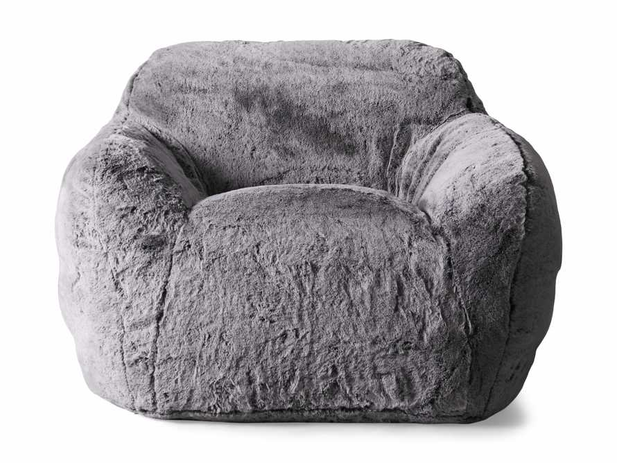 """Snugg Faux Fur 46"""" Chair in Grizzly Grey, slide 8 of 9"""