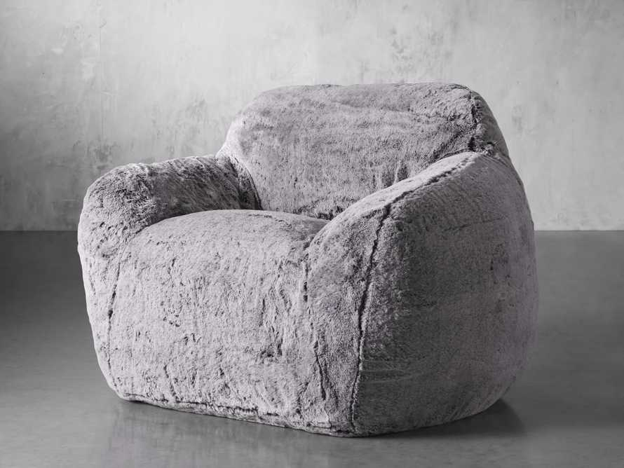 """Snugg Faux Fur 46"""" Chair in Grizzly Grey, slide 3 of 9"""