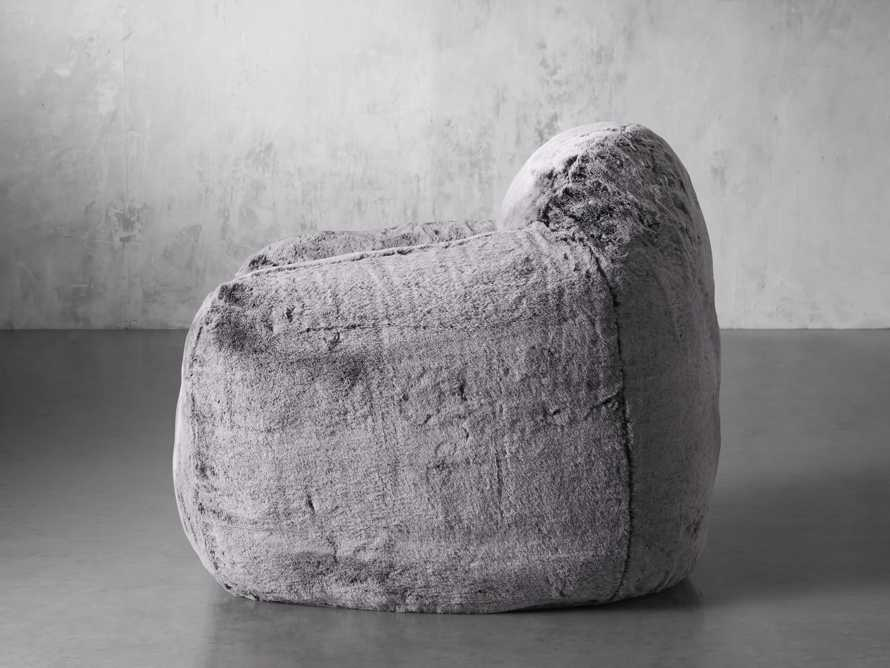 """Snugg Faux Fur 46"""" Chair in Grizzly Grey, slide 4 of 9"""