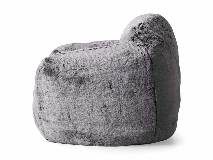 """Snugg Faux Fur 46"""" Chair in Grizzly Grey, slide 9 of 9"""