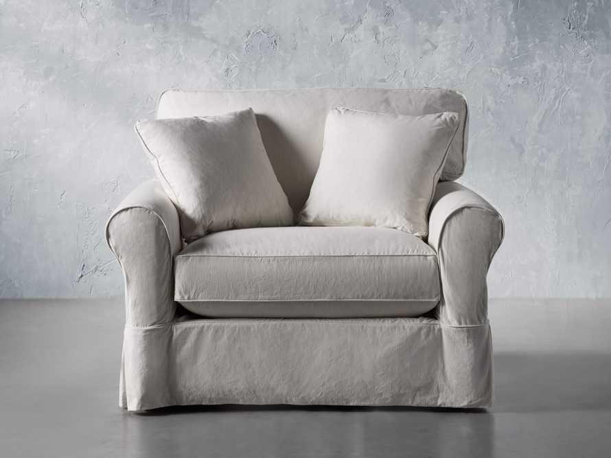 "Baldwin Slipcovered 50"" Chair"