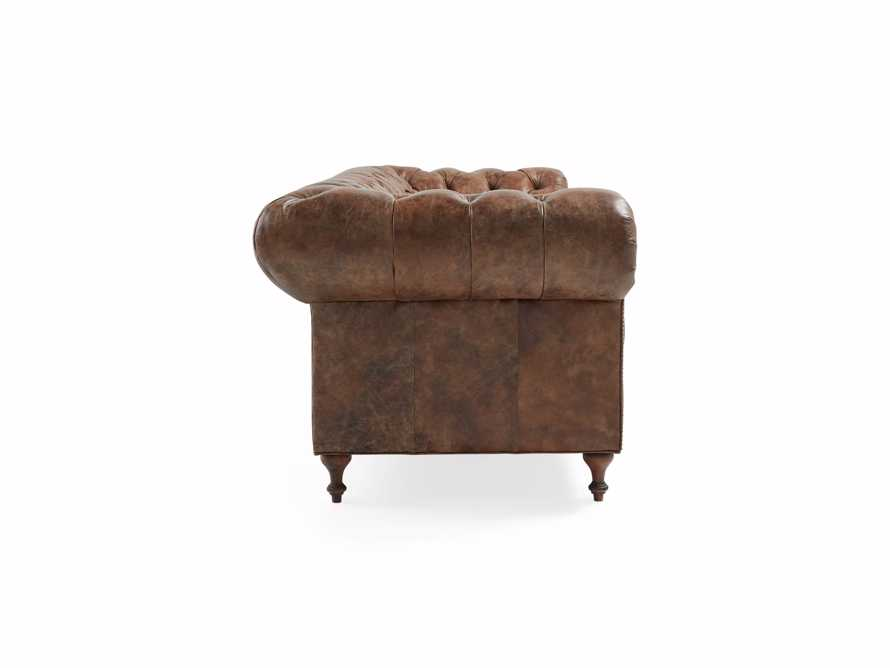 "Wessex 109"" Leather Tufted Sofa, slide 4 of 10"