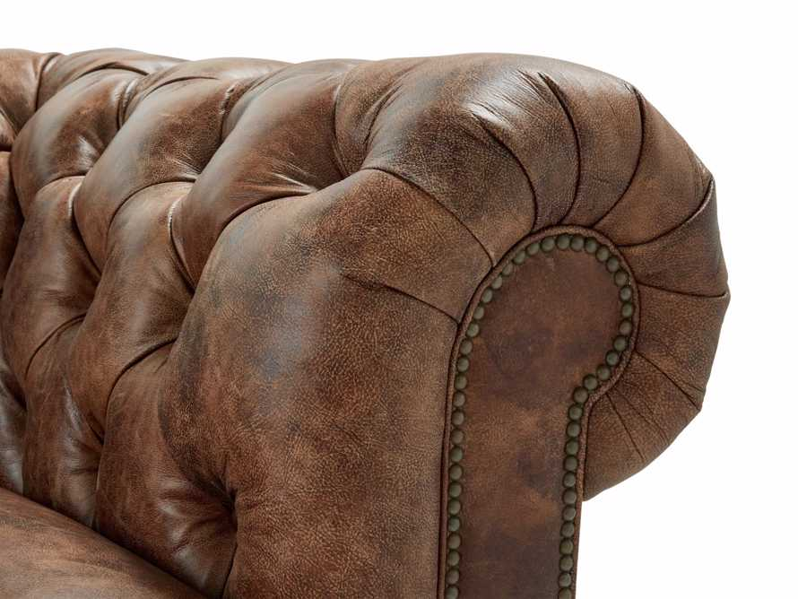 "Wessex 109"" Leather Tufted Sofa, slide 6 of 10"