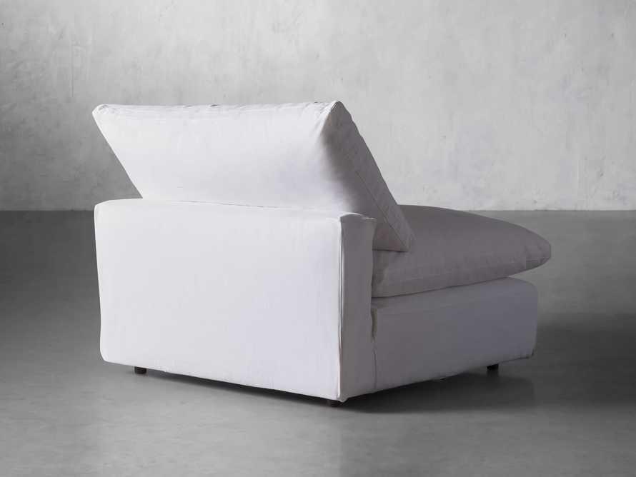 "Tahoe Slipcovered 45"" Armless Chair, slide 4 of 8"