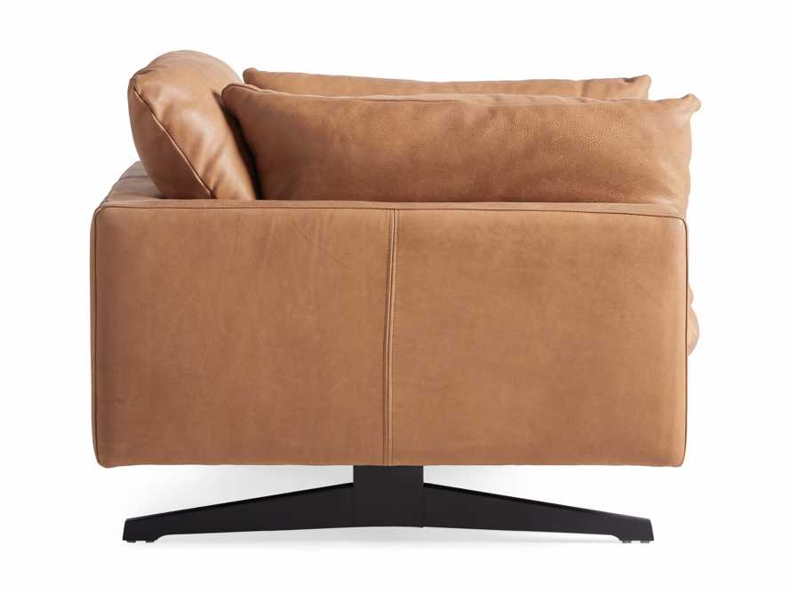 "Jarvis Leather 43"" Chair in Burnham Camel, slide 5 of 5"