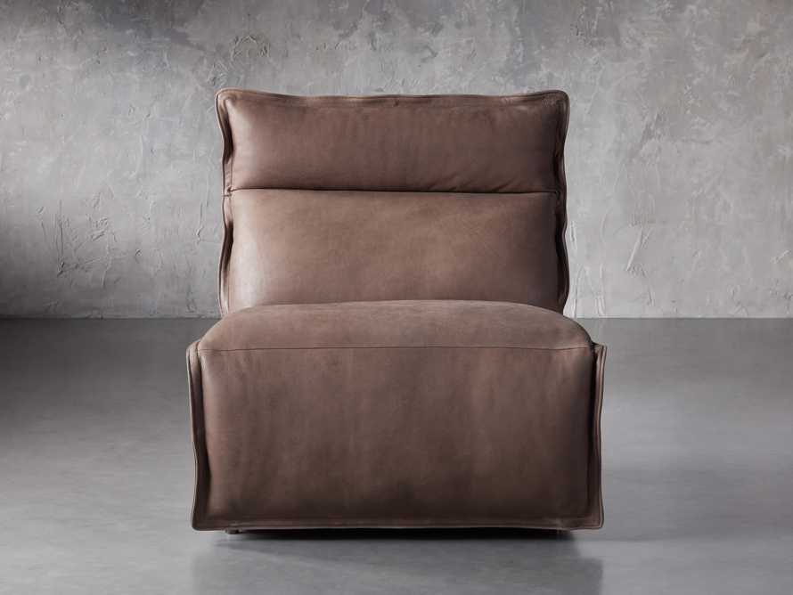 """Rowland Leather 34"""" Armless Motion Chair in Burnham Chocolate, slide 1 of 8"""