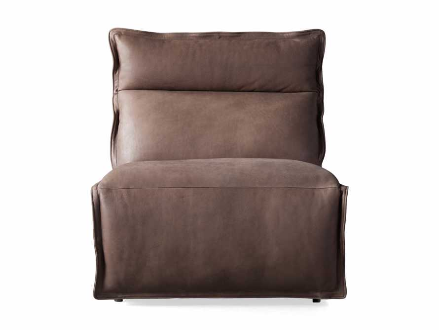 """Rowland Leather 34"""" Armless Motion Chair in Burnham Chocolate, slide 7 of 8"""