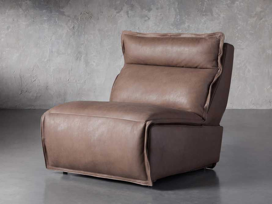 """Rowland Leather 34"""" Armless Motion Chair in Burnham Chocolate, slide 2 of 8"""