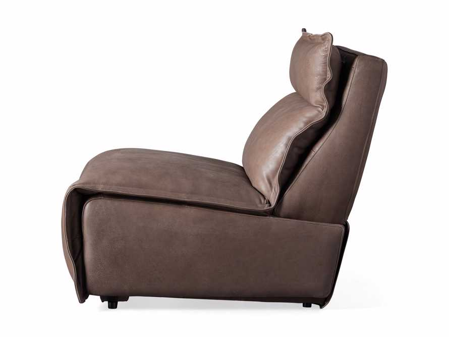 """Rowland Leather 34"""" Armless Motion Chair in Burnham Chocolate, slide 8 of 8"""