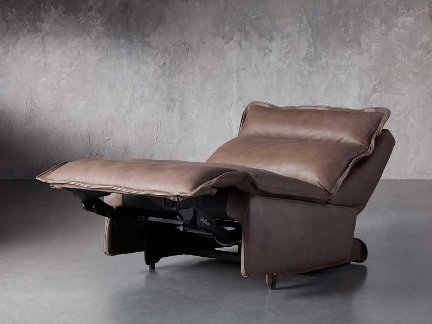 """Rowland Leather 34"""" Armless Motion Chair in Burnham Chocolate, slide 3 of 8"""