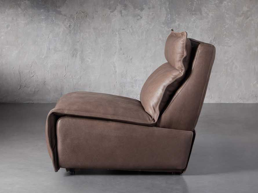 """Rowland Leather 34"""" Armless Motion Chair in Burnham Chocolate, slide 4 of 8"""