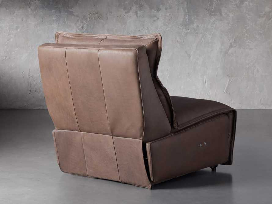 """Rowland Leather 34"""" Armless Motion Chair in Burnham Chocolate, slide 5 of 8"""