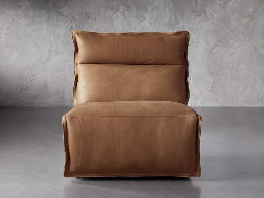 """Rowland Leather 34"""" Armless Motion Chair in Burnham Camel, slide 1 of 8"""