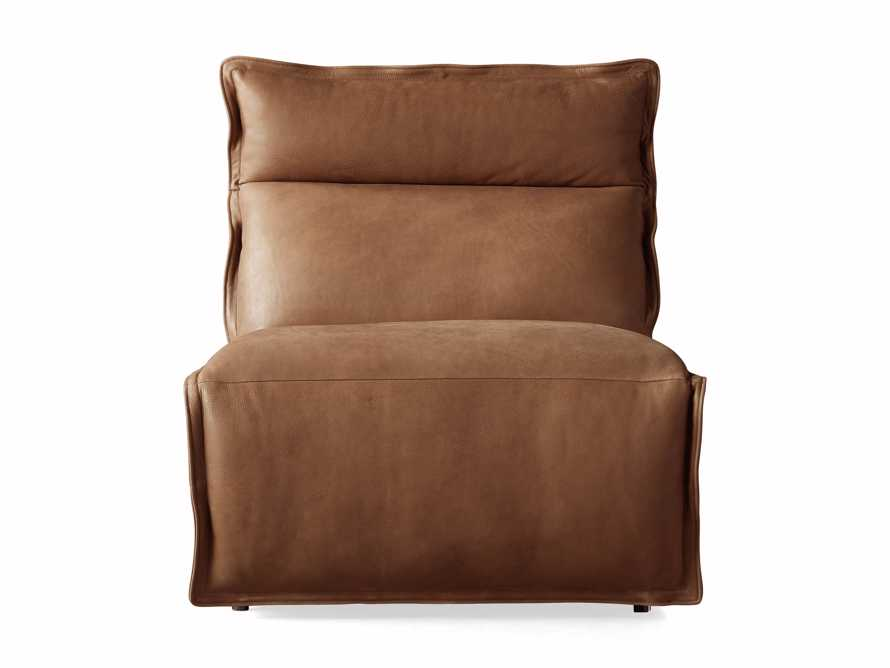 """Rowland Leather 34"""" Armless Motion Chair in Burnham Camel, slide 7 of 8"""