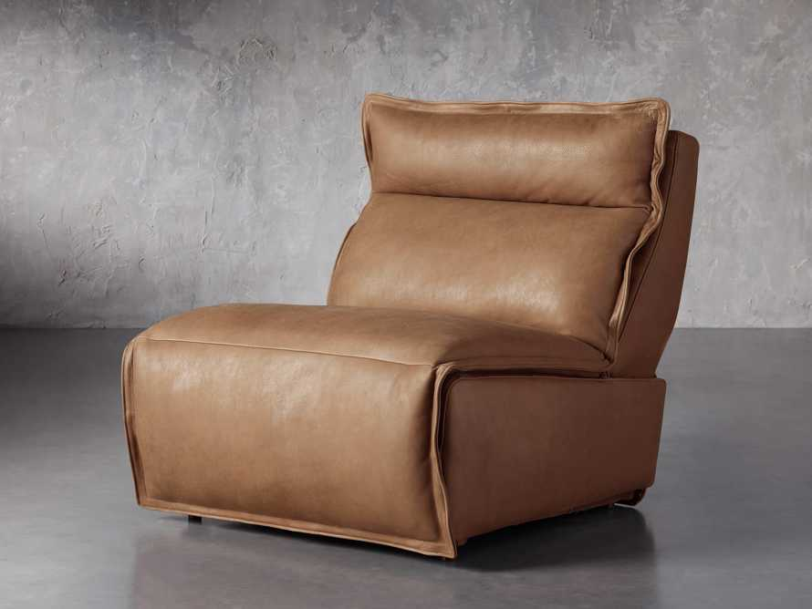 """Rowland Leather 34"""" Armless Motion Chair in Burnham Camel, slide 2 of 8"""