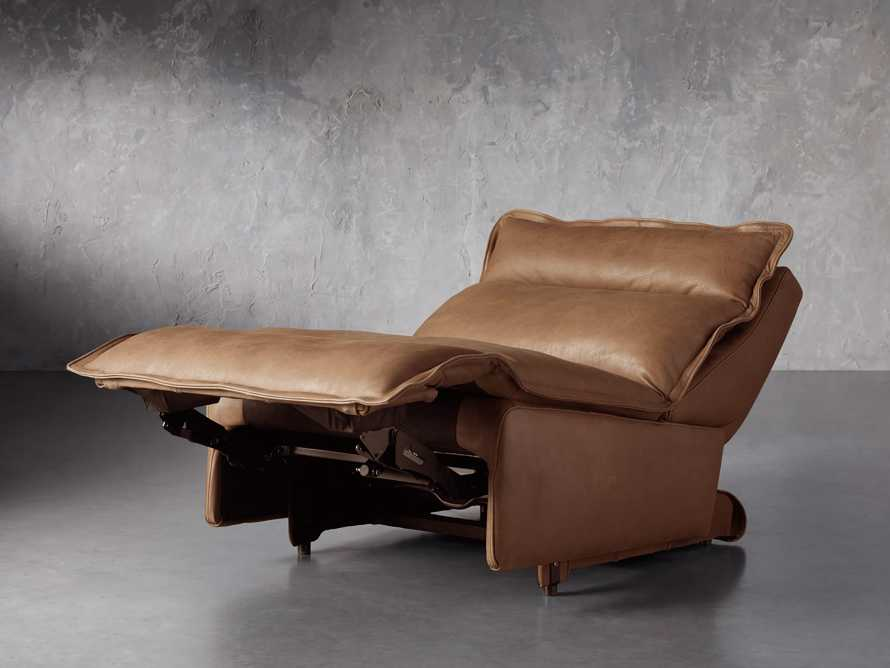"""Rowland Leather 34"""" Armless Motion Chair in Burnham Camel, slide 5 of 8"""