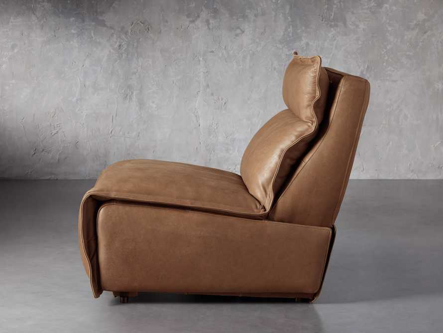 """Rowland Leather 34"""" Armless Motion Chair in Burnham Camel, slide 3 of 8"""