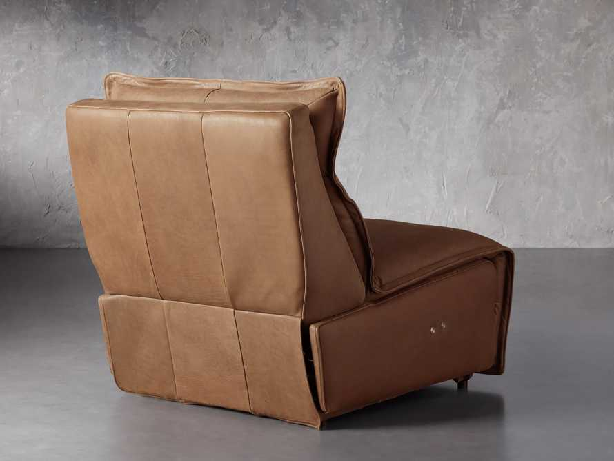 """Rowland Leather 34"""" Armless Motion Chair in Burnham Camel, slide 4 of 8"""