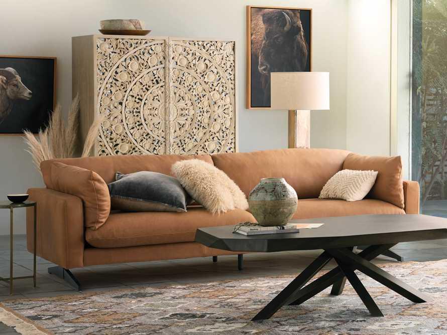 "Jarvis Leather 94"" Sofa in Burnham Camel, slide 1 of 4"