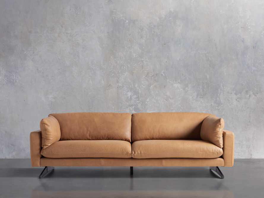 "Jarvis Leather 94"" Sofa in Burnham Camel, slide 2 of 4"