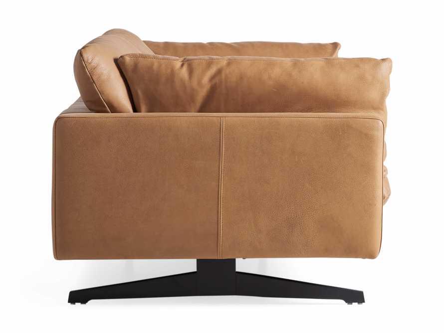 "Jarvis Leather 94"" Sofa in Burnham Camel, slide 4 of 4"