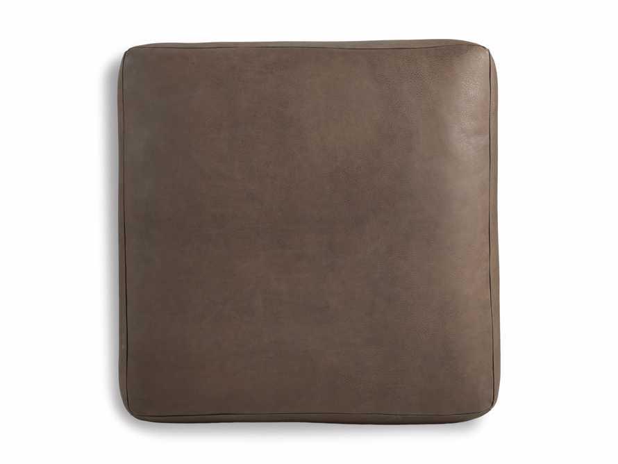"Innsbruck Leather 39"" Ottoman in Burnham Chocolate, slide 2 of 3"