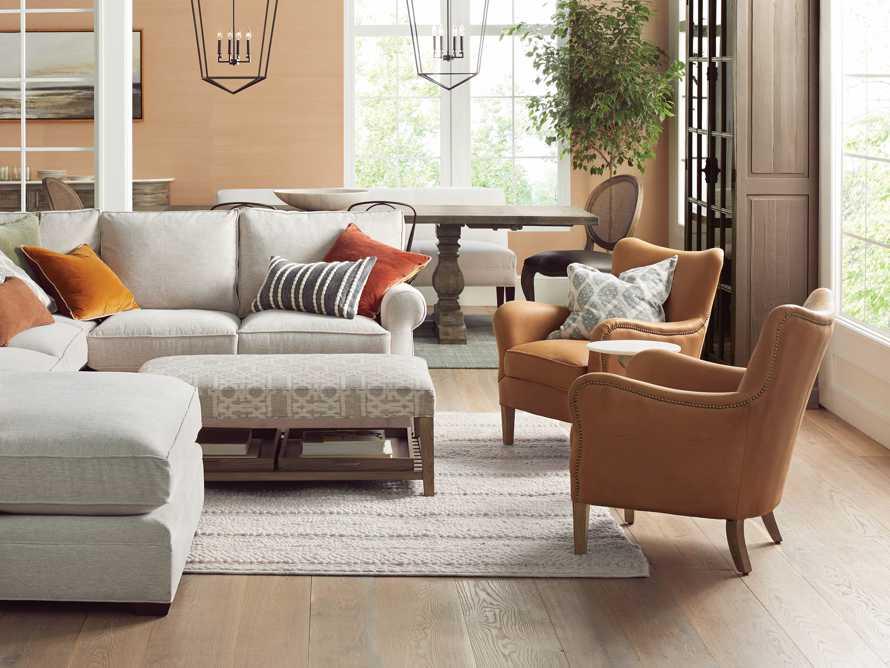 "Benton Leather 29"" Chair in Burnham Camel, slide 7 of 10"