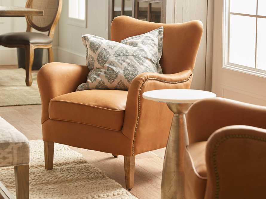 "Benton Leather 29"" Chair in Burnham Camel, slide 1 of 10"