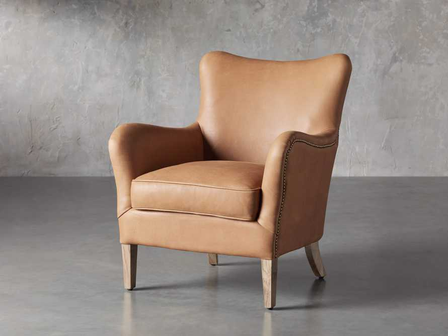"Benton Leather 29"" Chair in Burnham Camel, slide 2 of 8"