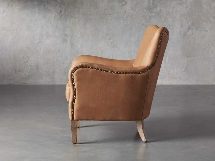 "Benton Leather 29"" Chair in Burnham Camel, slide 3 of 8"