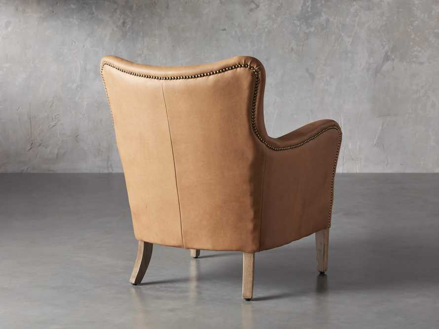 "Benton Leather 29"" Chair in Burnham Camel, slide 4 of 8"