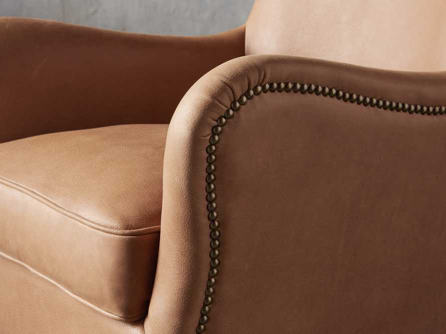 "Benton Leather 29"" Chair in Burnham Camel, slide 5 of 8"