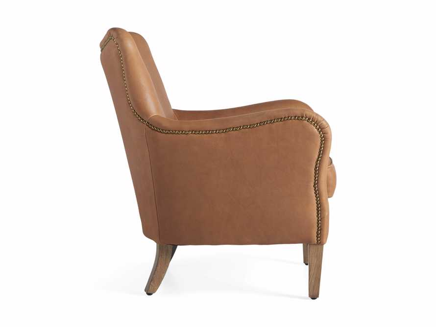 "Benton Leather 29"" Chair in Burnham Camel, slide 8 of 8"