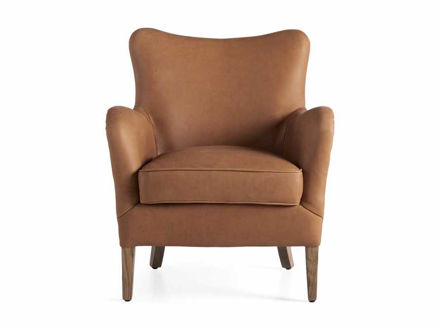 "Benton Leather 29"" Chair in Burnham Camel, slide 7 of 8"
