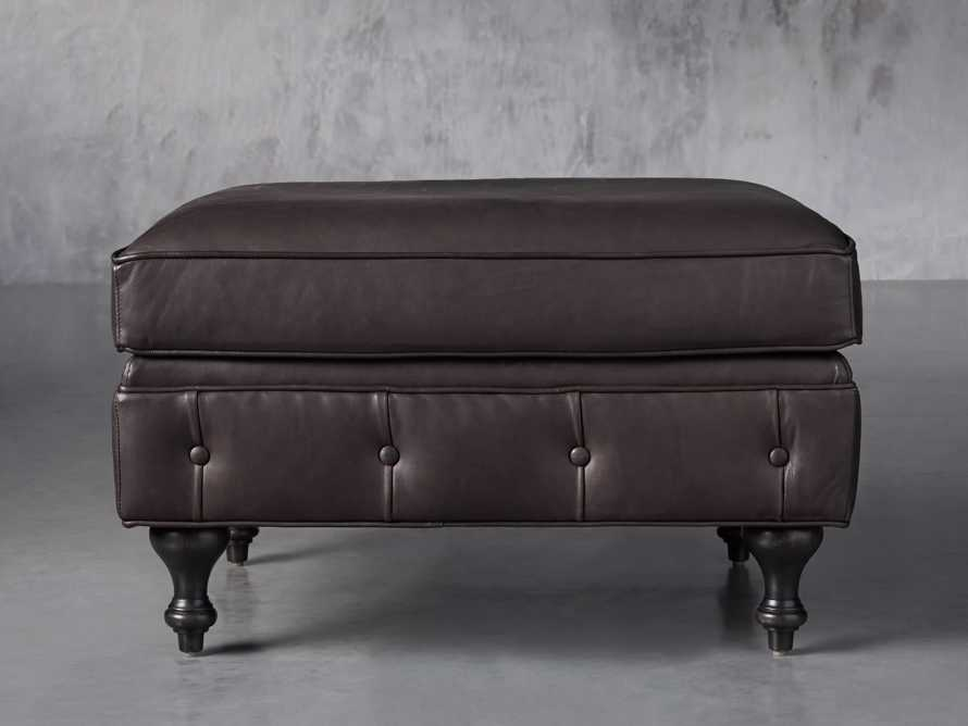 "Wessex Leather 32"" Ottoman, slide 1 of 7"